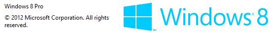 Squares are seen in perspective in the Windows 8 logo.