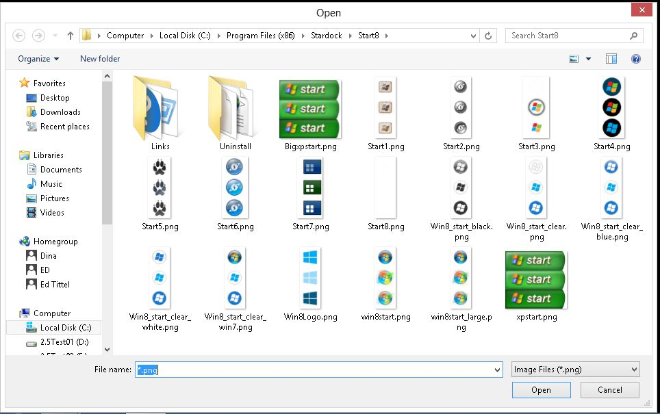 For those who don't want to use the Windows 7 style start button Start8 offers other choices.