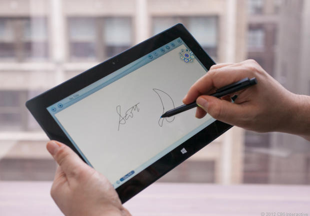 The Surface Pro supports a Wacom digitizer pen, which many reviewers liked.