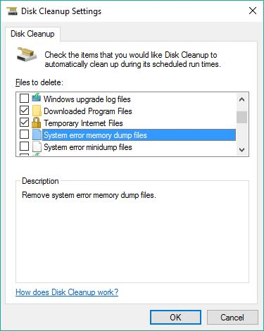 All Disk Cleanup Options captured, 2 of 5