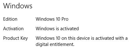 Reactivating Win10/Activation Troubleshooter