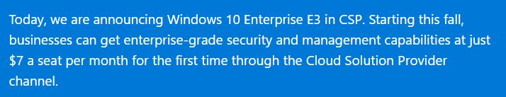 Win10 business subscriptions