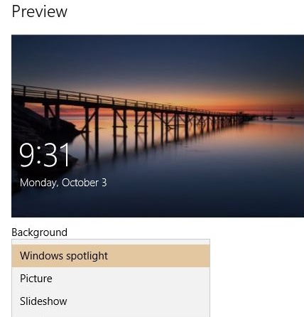 Setting Windows10's Lockscreen Image