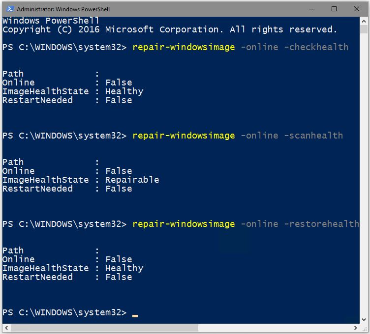 KB4016871 Fixes Spurious Win10 DISM Issue