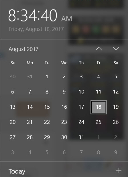 Great Win10 Date/Time Calendar Trick