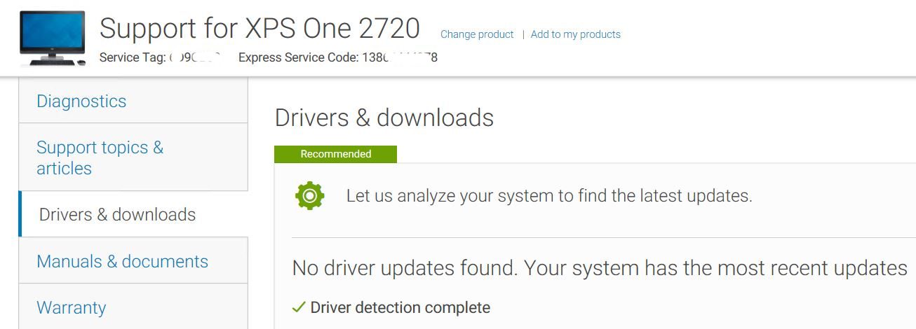 When Updating Drivers Check Vendor Support
