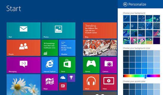 Windows 8.1 Blue personalization