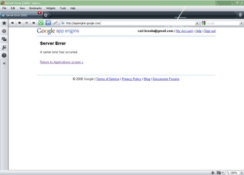 Server Error (500) <-----bad juju!