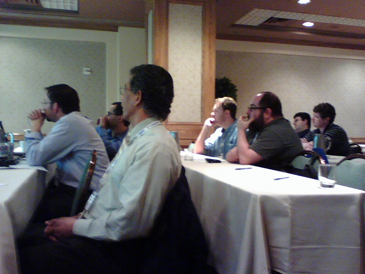 Attendees at a workshop on giving presentations by Howard Goldstein