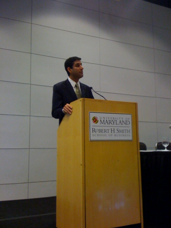 U.S. CIO Kundra speaks at the University of Maryland CIO Forum