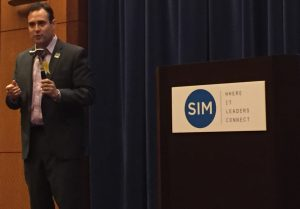 TCE Strategy CEO and cybersecurity expert Bryce Austin during his session on IoT security at the recent SIMposium 2016.