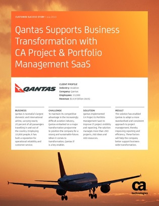 qantas case study business management and change Australian airline qantas will change its description of taiwan from a country to a  province of china  but in cases where there are no global standards, or gaps  in how  structures its website is a matter for the company's management   after spending 5 years studying millionaires, i've found that there.