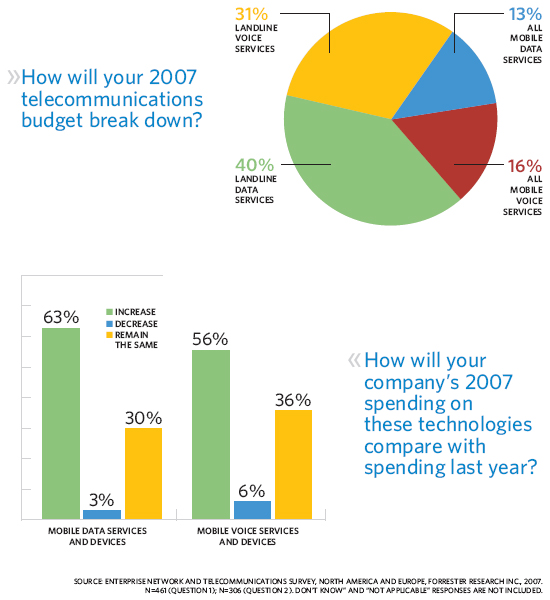 How will your 2007 telecommunications budget break down?