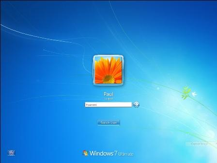 Windows 7 lock screen