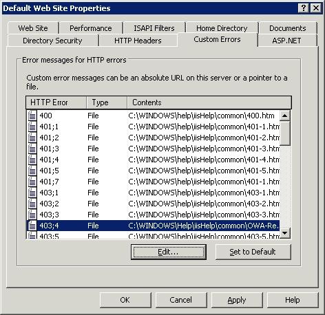 HTTP error 403;4