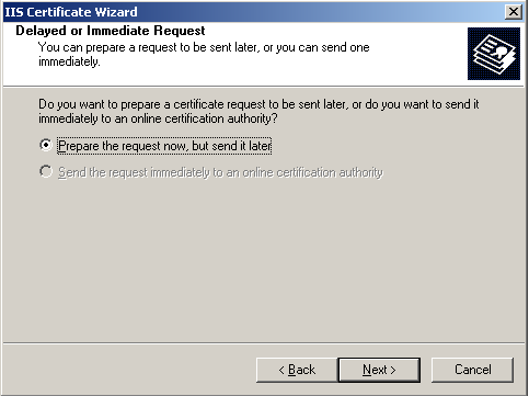 Certificate Signing Request (CSR) text file