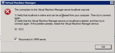vSphere clients are disconnected when SCVMM connects to the vCenter