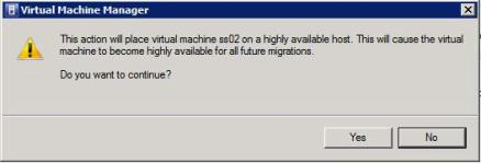 Dialog box when moving a virtual machine with VMotion