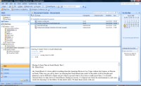 Outlook's reading pane displays a Microsoft Word document