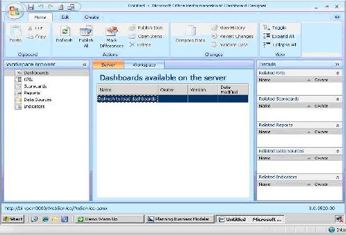 The PPS 2007 Dashboard Designer