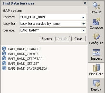 The BAPI/RFC System in Visual Composer
