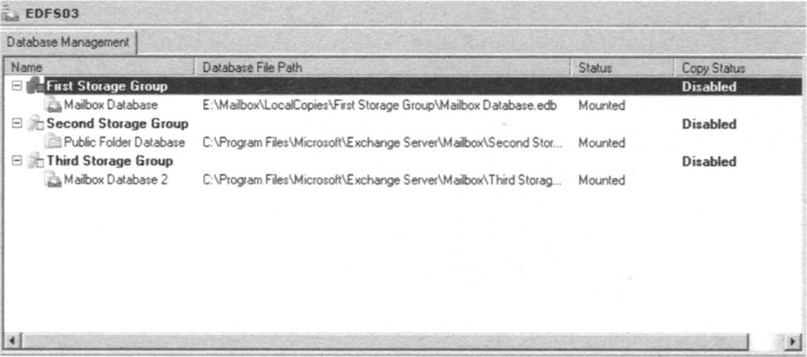 Database file path change.