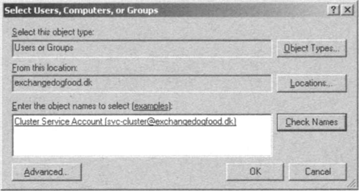 Adding the Cluster Service Account to the Local Administrators Group