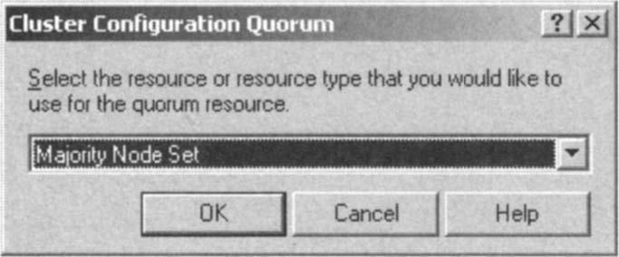 Setting Majority Node Set as the Resource Type