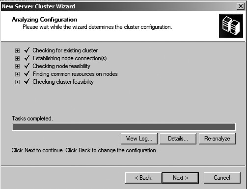 Figure 120: The Analyzing Configuration window.