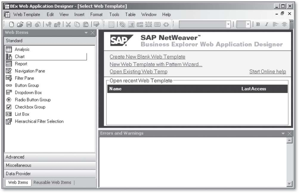 SAP BEx WAD