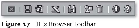 SAP BEx Tools: BEx Browser Toolbar