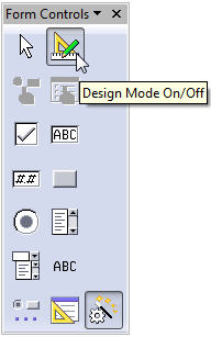 design view form controls