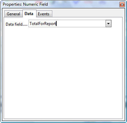 Numeric field properties