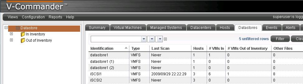 iSCSI1 data store scan