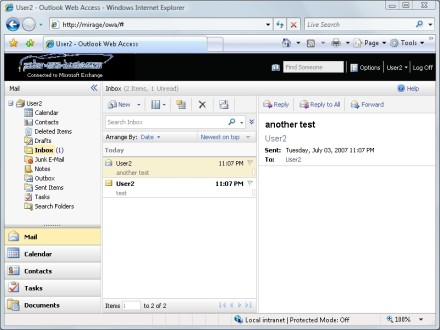 Exchange Server Outlook Web Access profile