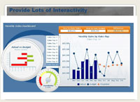 Interactive dashboard example
