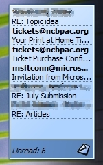 Inbox Alert tool for Microsoft Outlook 2007