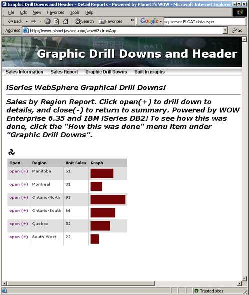 sample Java web graphic on iSeries