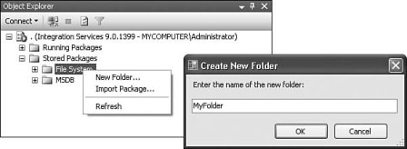 Figure 16-48: The Package Roles dialog box with the db_dtsoperator role assigned to the reader role, and the db_dtsadmin role to the writer role.