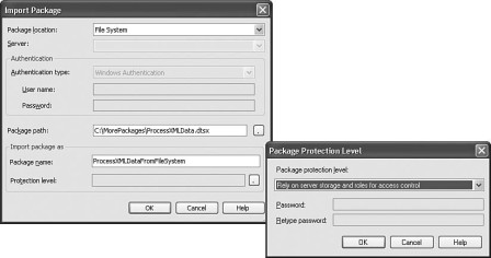 Figure 16-50: The General page of the Execute Package Utility.