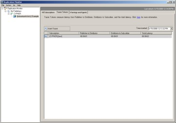 How tracer tokens in SQL Server 2005 work