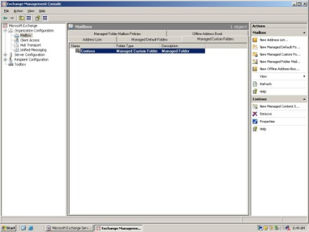 Exchange 2007 Managed Custom Folder
