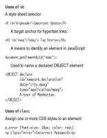 use of id and class in HTML