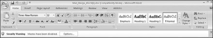 Figure 7.12: Enable macros in Microsoft Word