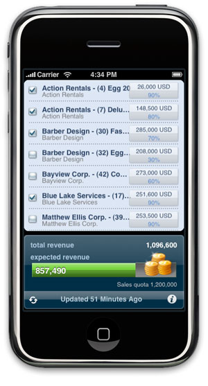 Oracle iPhone app