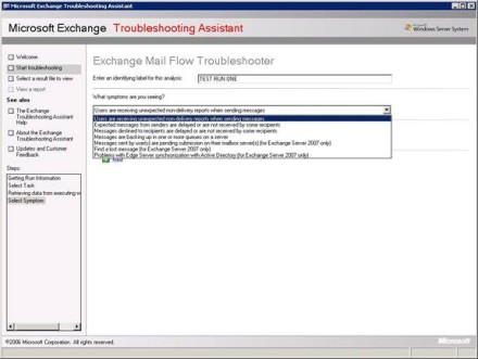 Exchange Mail Flow Troubleshooter