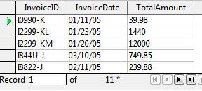 OpenOffice running query