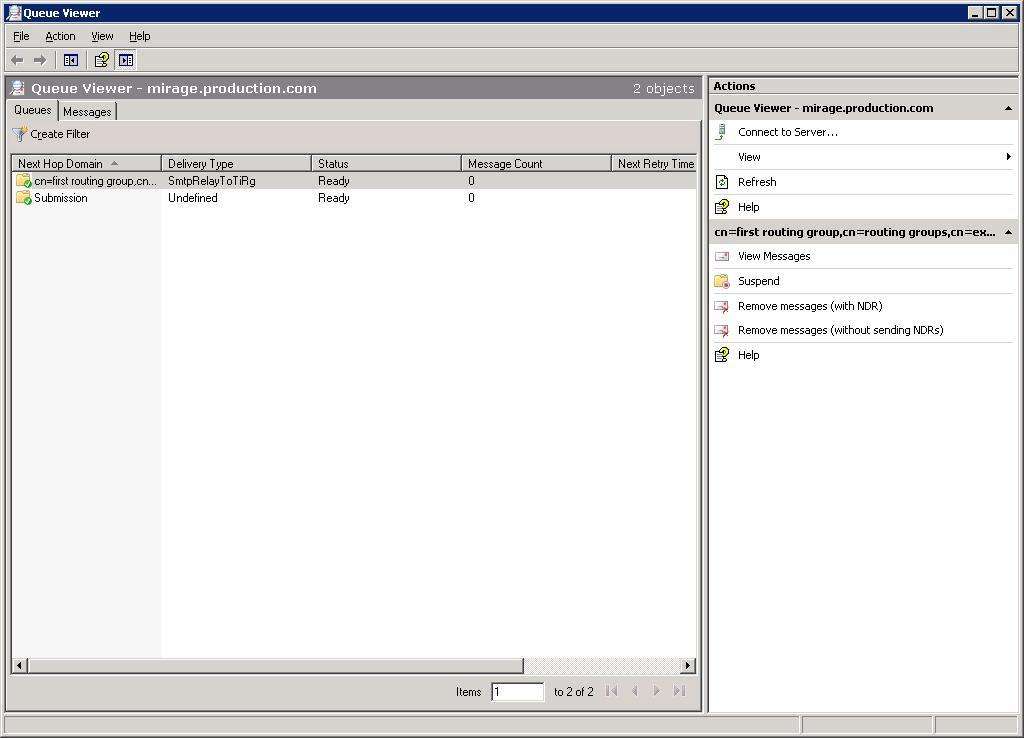 Exchange Management Console Queue Viewer