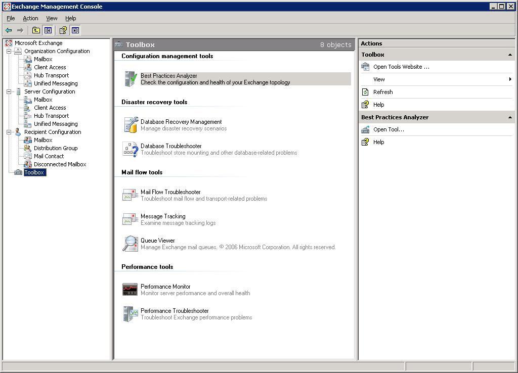 Exchange 2007 database