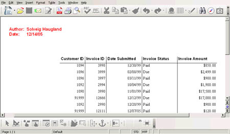 How to get reports on OpenOffice 2.0 Base, part one